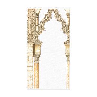 Aljaferia。 イスラム教宮殿。 アーチ。 サラゴサ キャンバスプリント