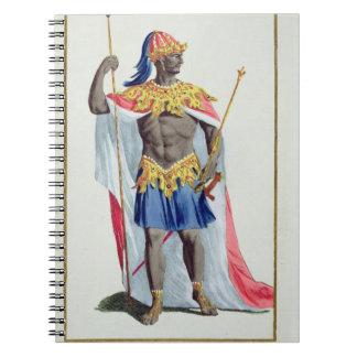 、Alkmey 「Receuil des Estampesからのギニーの王、 ノートブック