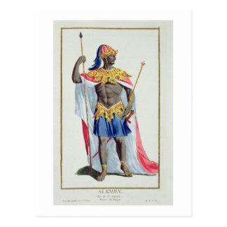 、Alkmey 「Receuil des Estampesからのギニーの王、 ポストカード