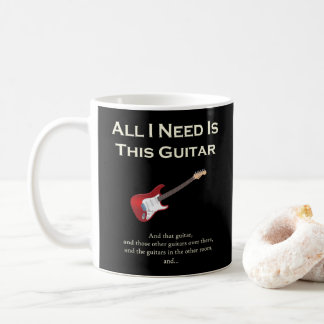 All I Need is This Guitar, Funny, Humor コーヒーマグカップ