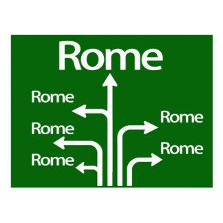 All roads lead to Rome ポストカード