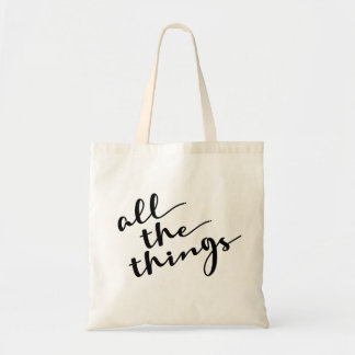 All the things, Modern Script トートバッグ