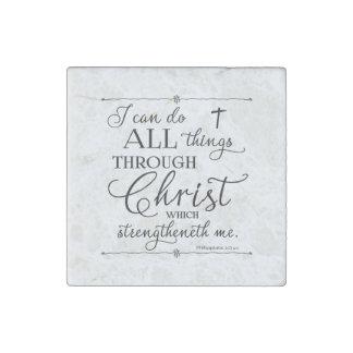 All Things Through Christ - Philippians 4:13 ストーンマグネット
