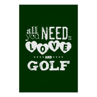 All You Need is Love and Golf ポスター