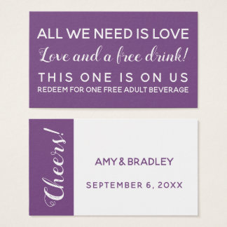All You Need is Love, Funny Drink Tickets, Purple 名刺
