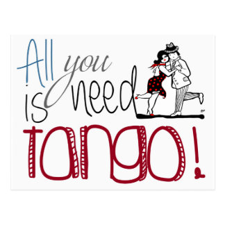 All you need is Tango quote ポストカード