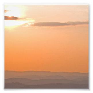 Allegheniesの日没、ウェストヴァージニア フォトプリント