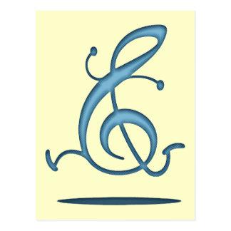 Allegroクレフ、音符記号 ポストカード