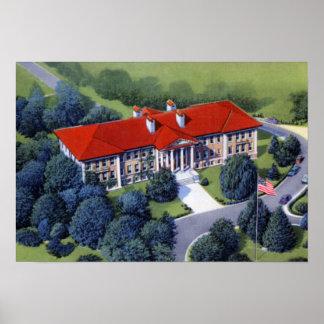 Allentownペンシルバニアのヒマラヤスギの頂上の大学 プリント