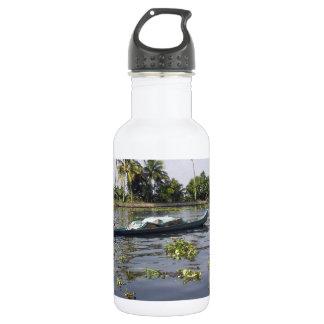 Alleppeyの塩水の礁湖の船遊びに人を配置して下さい ウォーターボトル