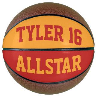 Allstarの深紅色の金ゴールド バスケットボール