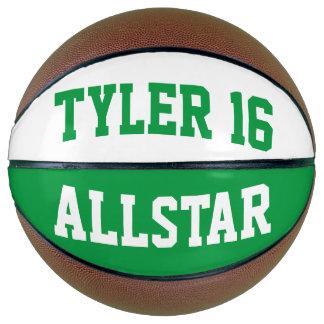 Allstarの緑の白 バスケットボール