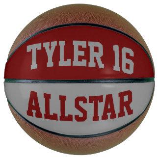 Allstarの赤および灰色 バスケットボール