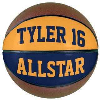 Allstarの青の金ゴールド バスケットボール