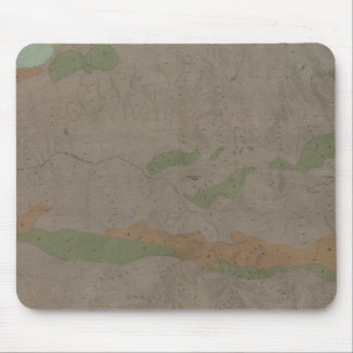 Almadenの新しい鉱山地区の地質地図 マウスパッド