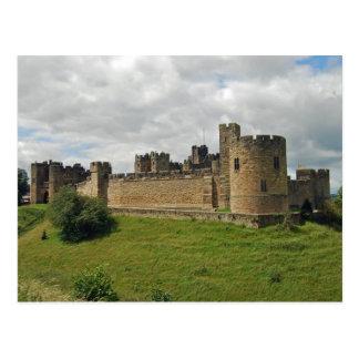 Alnwickの城の郵便はがき ポストカード