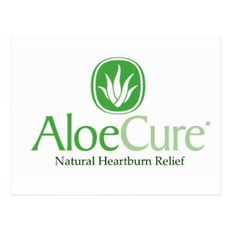 AloeCure®の自然な胸焼けのレリーフ、浮き彫り ポストカード