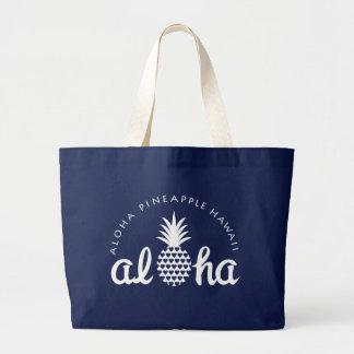 aloha pineapple hawaii bag ラージトートバッグ