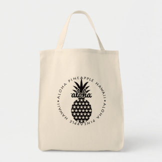 aloha pineapple hawaii shoppingbag トートバッグ
