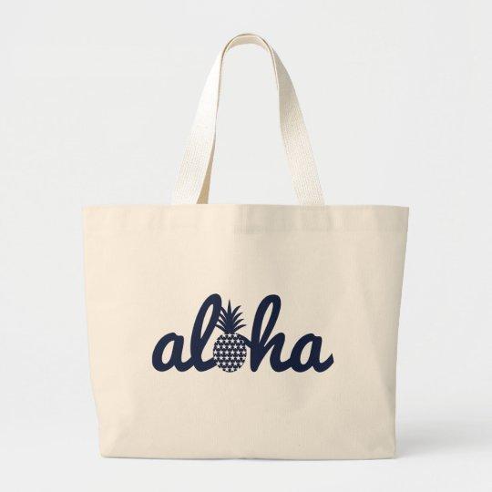 aloha(star)018 ラージトートバッグ
