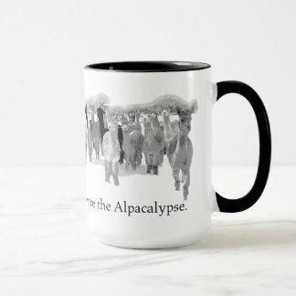 Alpacalypse -おもしろいなおたくの時代遅れのユーモア--を用心して下さい マグカップ