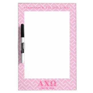 Alphiのキーのオメガのピンクの手紙 ホワイトボード