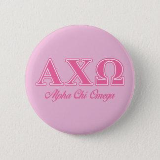 Alphiのキーのオメガのピンクの手紙 缶バッジ