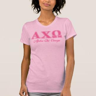 Alphiのキーのオメガのピンクの手紙 Tシャツ