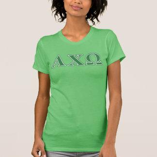 Alphiのキーのオメガの緑の手紙 Tシャツ