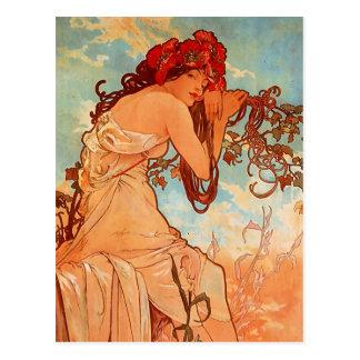 Alphonsのミュシャ- 4季節-夏 ポストカード
