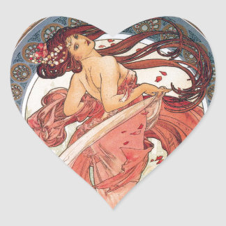 "Alphonse Mucha , "" Dance "" ハートシール"