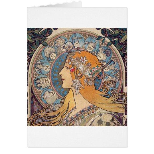 "Alphonse Mucha , ""Zodiac"" カード"