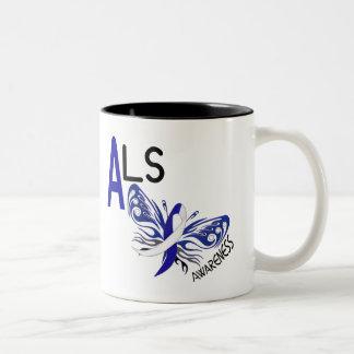 ALSの蝶3.1 ツートーンマグカップ