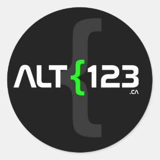 Alt123.caのステッカー ラウンドシール