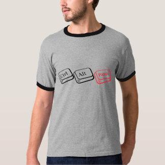 ALT、DELのパニック Tシャツ