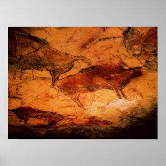 Altimira、紀元前のc.15000の洞窟からのバイソン ポスター