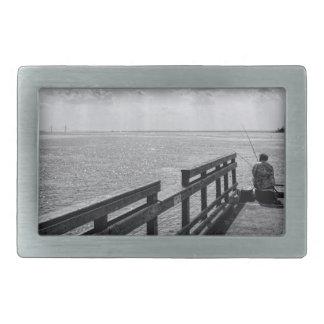 Altlanticの海の桟橋からの採取 長方形ベルトバックル