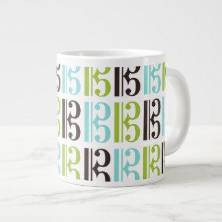 ALTOクレフ、音符記号パターン ジャンボコーヒーマグカップ