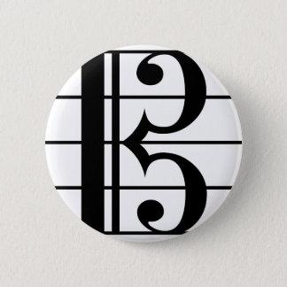 ALTOクレフ、音符記号 5.7CM 丸型バッジ