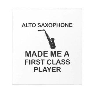 ALTOサクソフォーンのデザイン ノートパッド