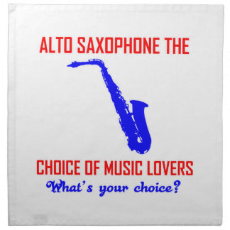 ALTOサクソフォーン音楽愛好者の選択 ナプキンクロス