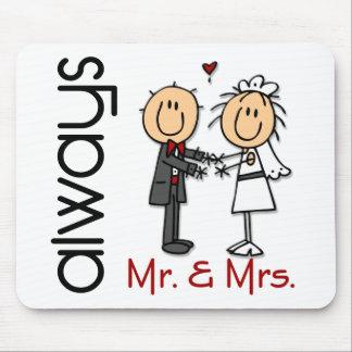 Always棒の姿の結婚式のカップルの氏及び夫人 マウスパッド