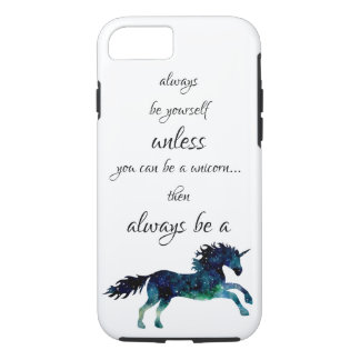 Always Be A Unicorn Space Watercolor Nebula Case iPhone 8/7ケース