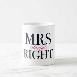 Always Right Classic White夫人のマグ コーヒーマグカップ
