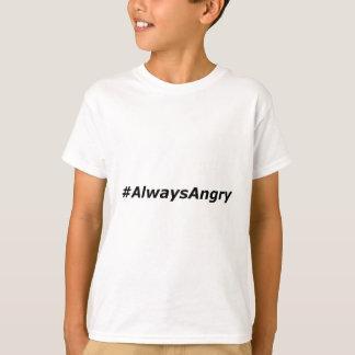 #AlwaysAngryロゴ黒い Tシャツ
