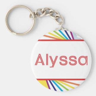AlyssaのためのSun&Rainbow キーホルダー