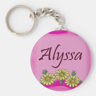 AlyssaのデイジーKeychain キーホルダー