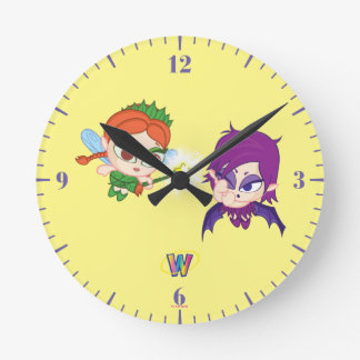 Alyssa対Nafaria ラウンド壁時計