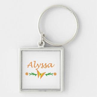 Alyssa (オレンジ蝶) キーホルダー