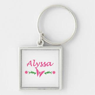 Alyssa (ピンクの蝶) キーホルダー